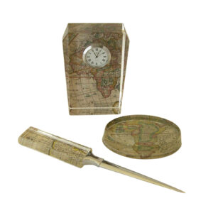 Shown here with Letter Opener and Oval Paperweight.